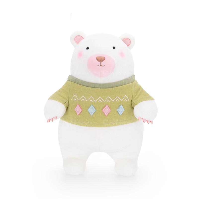 Мягкая игрушка Мишка в зеленом свитере 35см