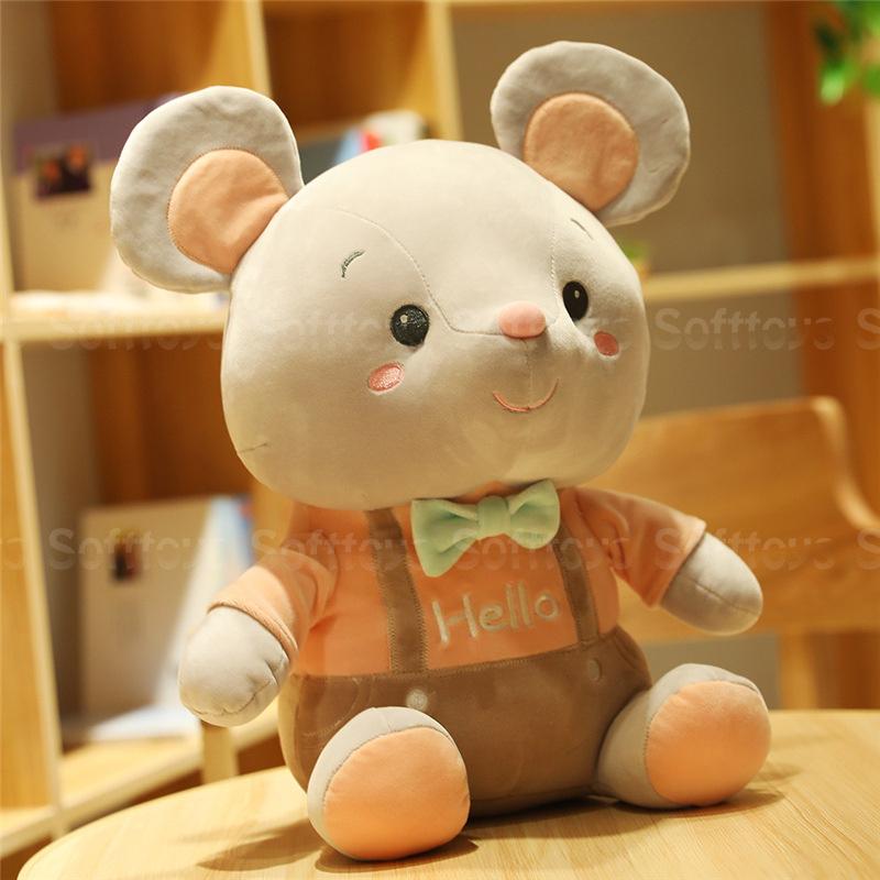 Мягкая игрушка Мышонок Hello (оранжевый) 25см