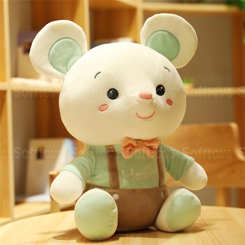 Мягкая игрушка Мышонок Hello (зеленый) 25см