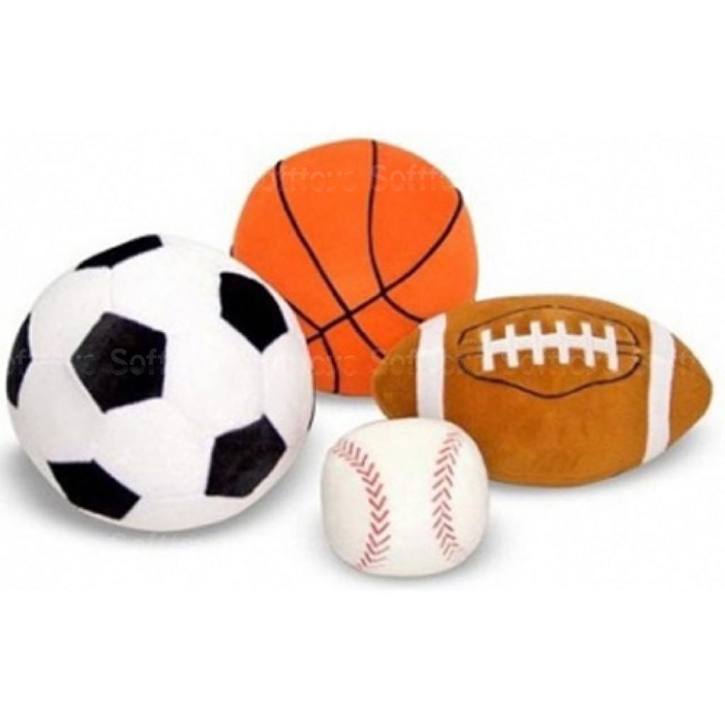 Мягкая игрушка Набор плюшевых спортивных мячей