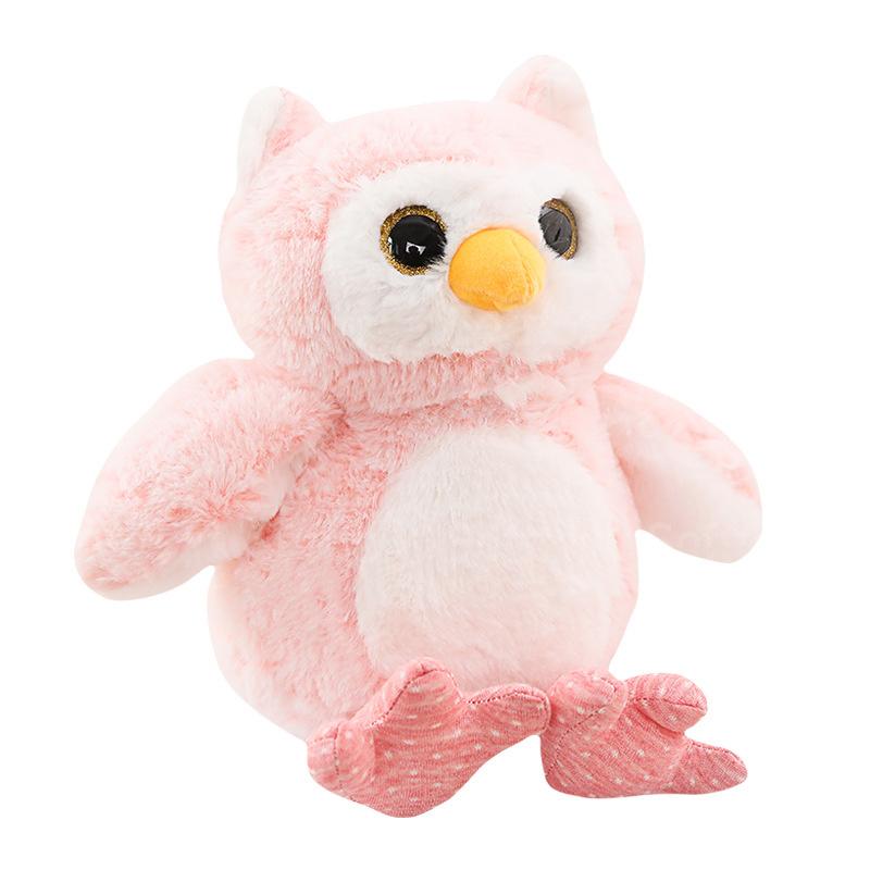 Мягкая игрушка Розовая Совушка 30см