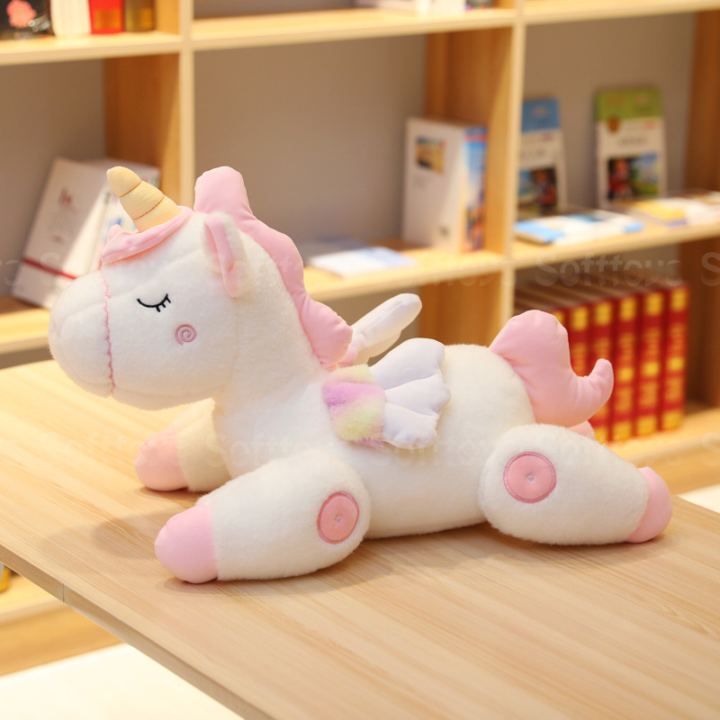 Мягкая игрушка Спящий Единорог Белый