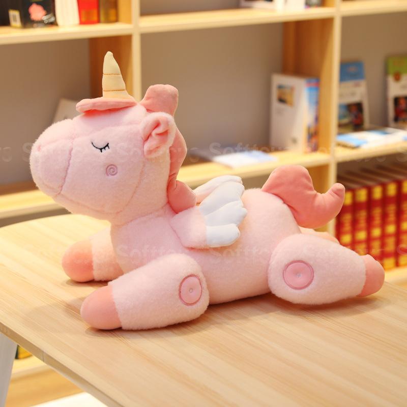 Мягкая игрушка Спящий Единорог Розовый