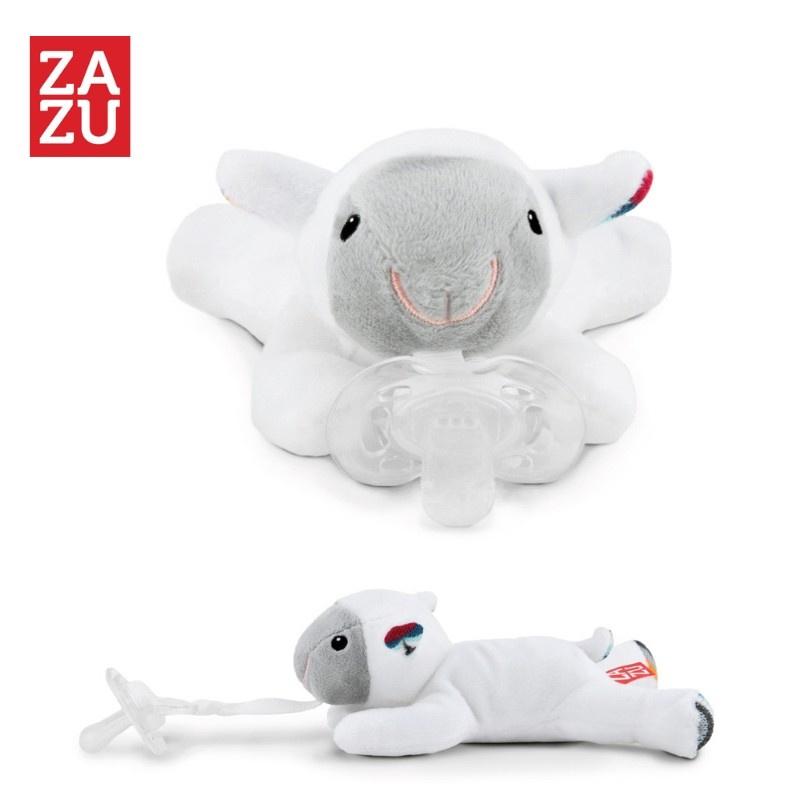 Мягкая игрушка ZAZU держатель для пустышки Барашек Lizzy