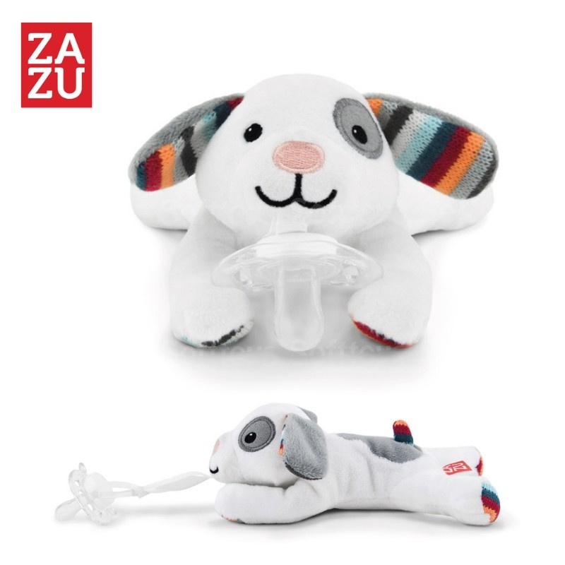 Мягкая игрушка ZAZU держатель для пустышки Собачка Dexy