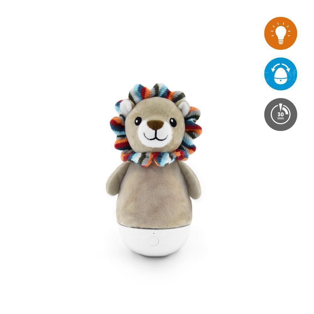 Мягкая игрушка ZAZU ночник-неваляшка Львёнок Лекс