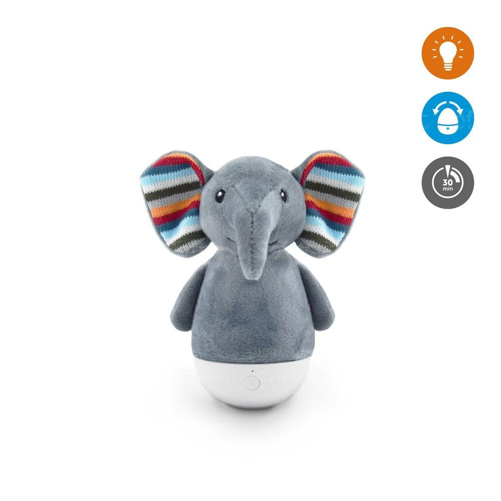 Мягкая игрушка ZAZU ночник-неваляшка Слоненок Элли