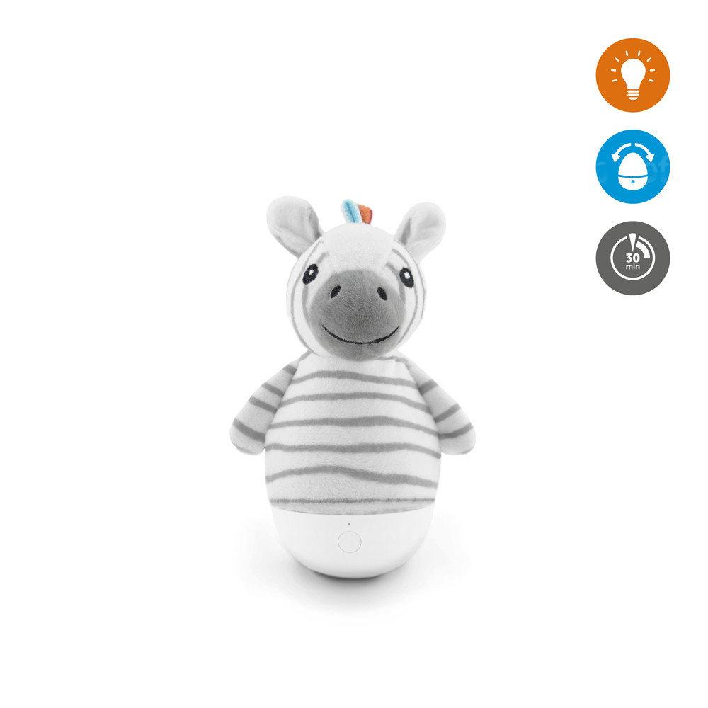 Мягкая игрушка ZAZU ночник-неваляшка Зебра Зак