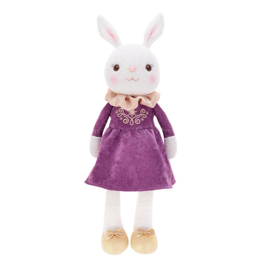 Мягкая игрушка Зайчик Tiramitu Violet Dress
