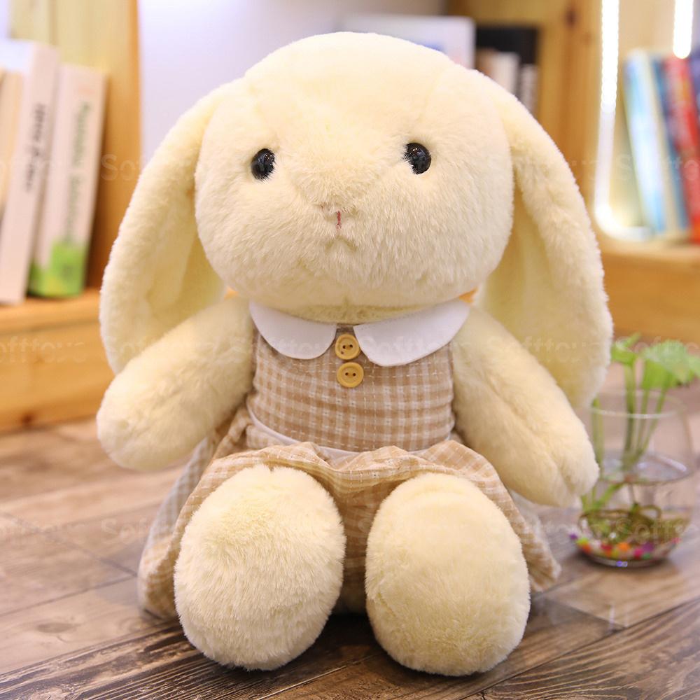Мягкая игрушка Зайка в платье (белый)