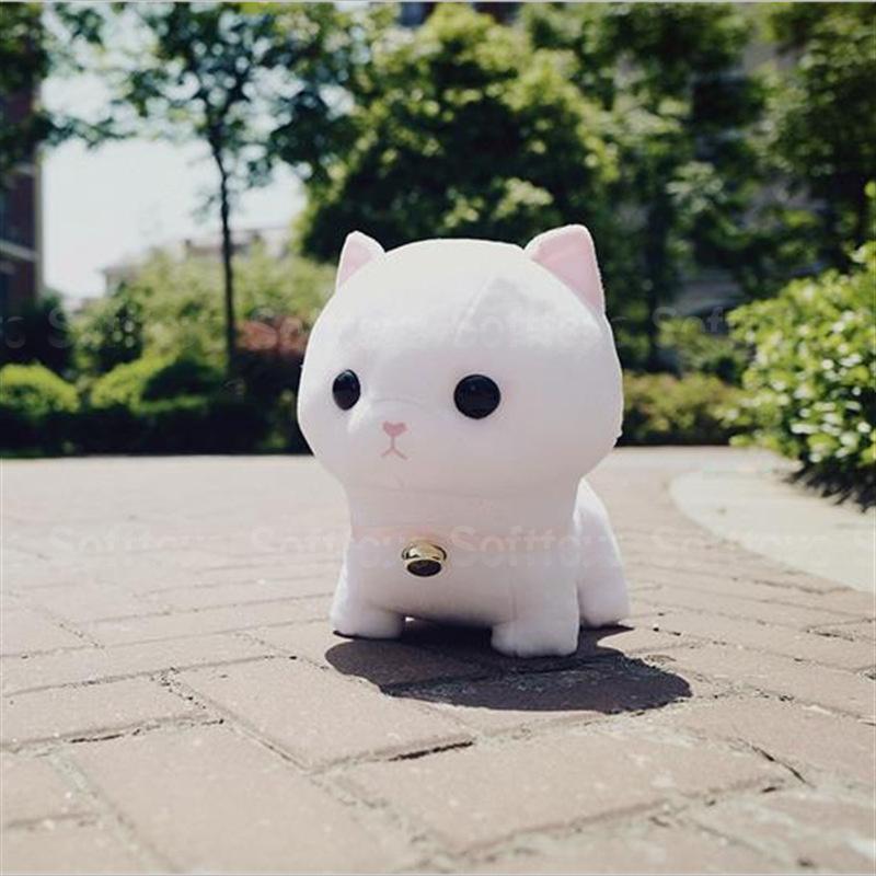 Мягкая игрушка белый котёнок
