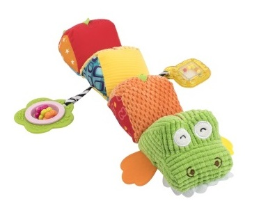Мягкая игрушка-гусеница BabyTeam Крокодил