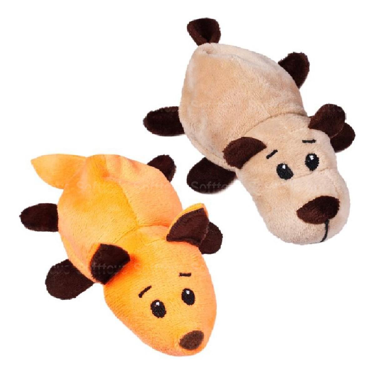 Мягкая игрушка-перевертыш лисичка-мишка 14 см