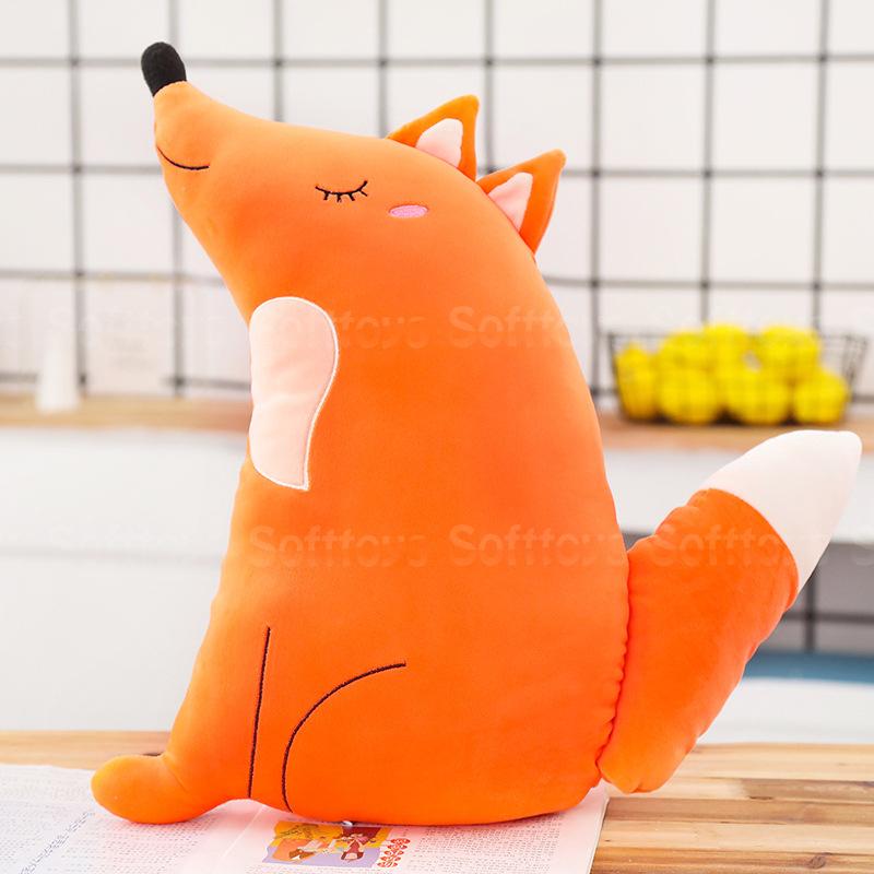 Мягкая игрушка-подушка Довольная лисичка