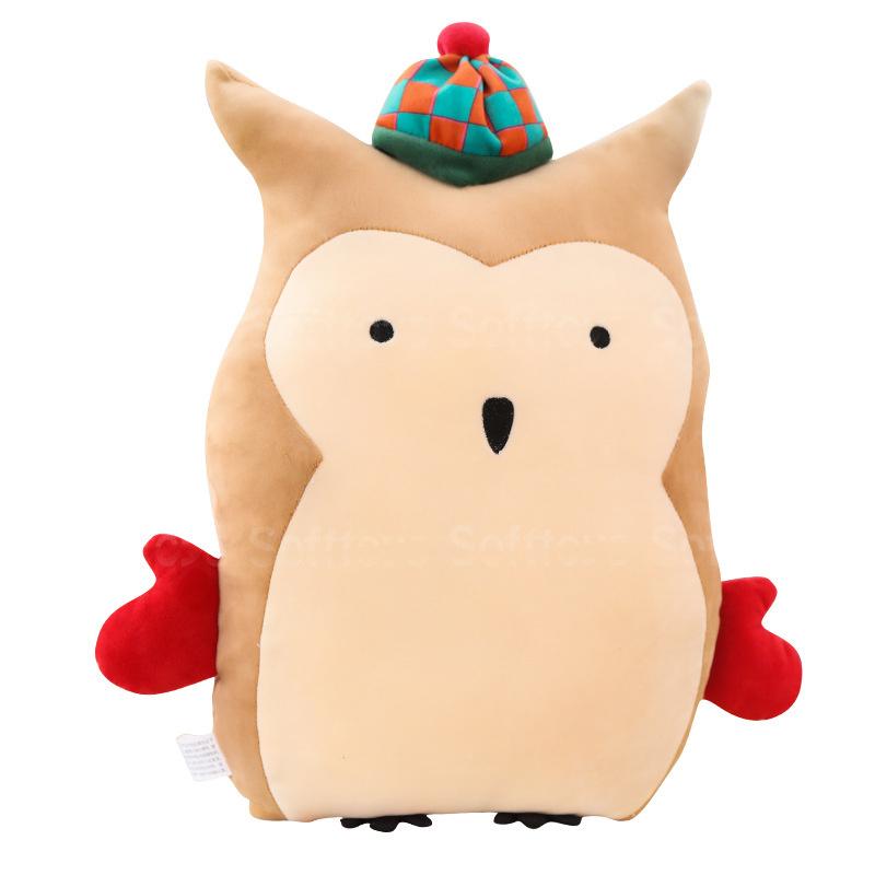 Мягкая игрушка-подушка Филин в шапочке