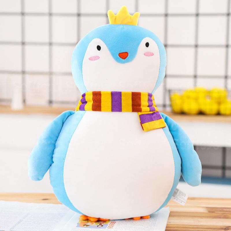 Мягкая игрушка-подушка Голубой Пингвин