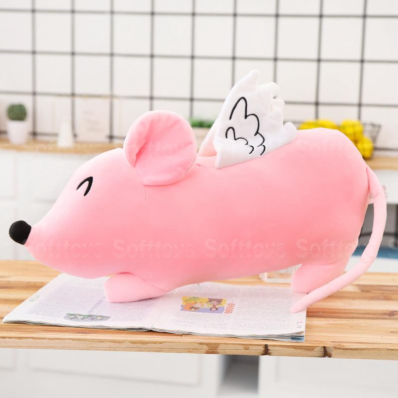 Мягкая игрушка-подушка Розовая мышка