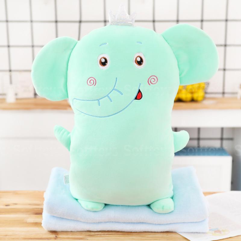 Мягкая игрушка-подушка Слоник с пледом