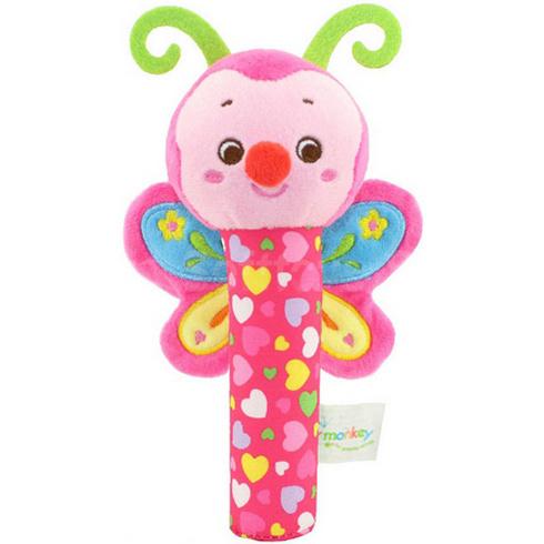Мягкая игрушка-погремушка Бабочка