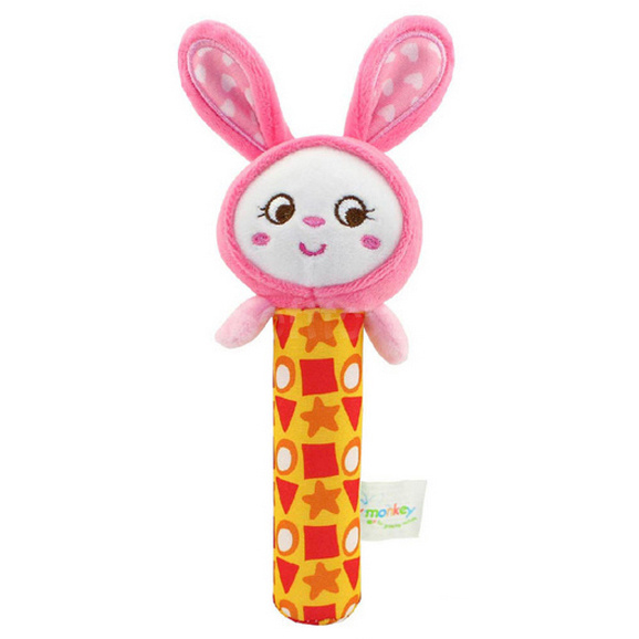 Мягкая игрушка-погремушка Кролик