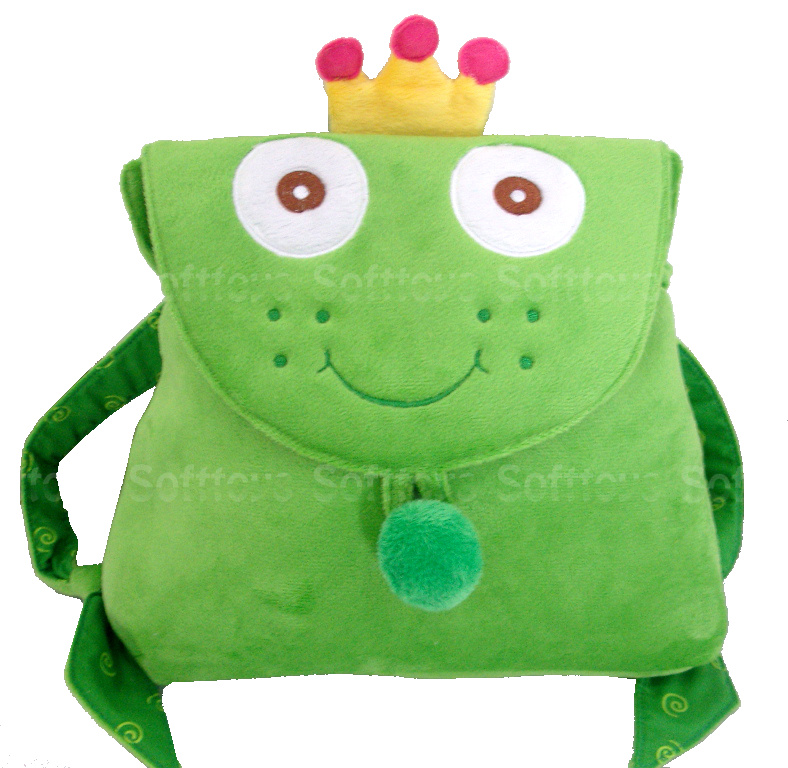 Мягкая игрушка-рюкзачек Лягушонок