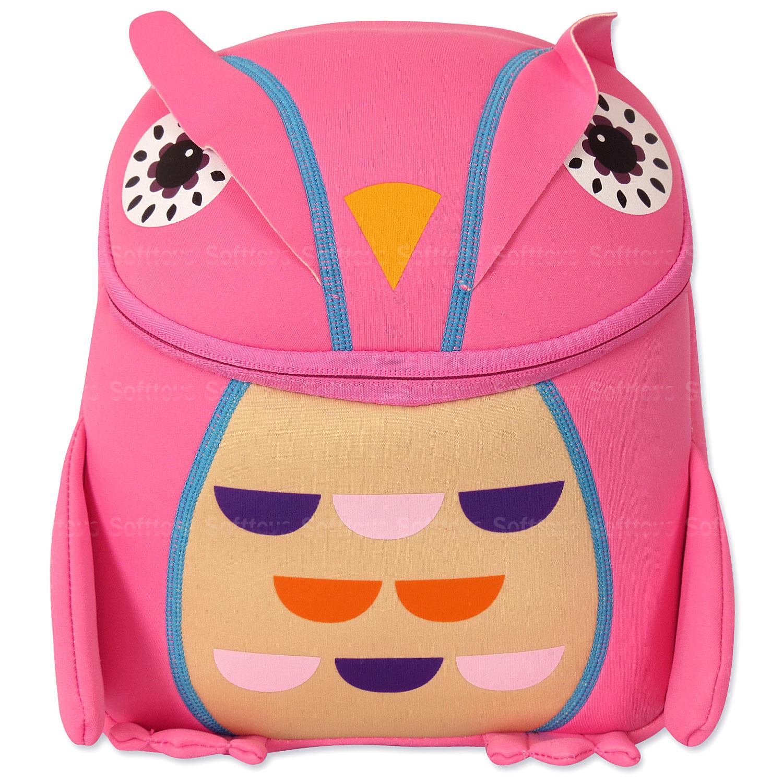 Мягкая игрушка-рюкзак Филин PINK