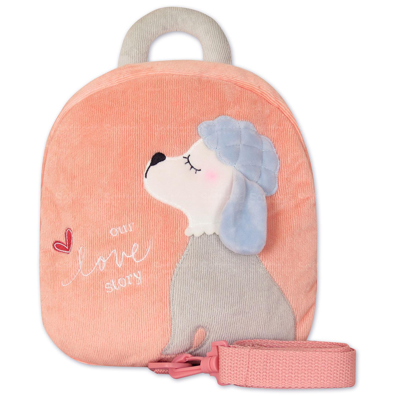 Мягкая игрушка-рюкзак Пудель персиковый