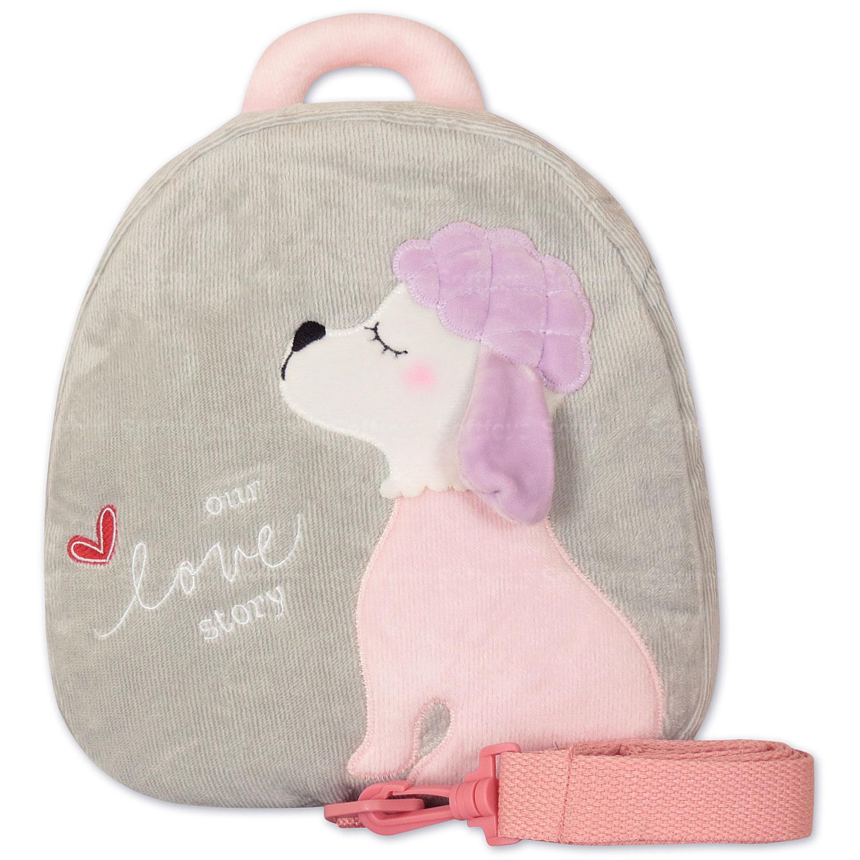 Мягкая игрушка-рюкзак Пудель серый