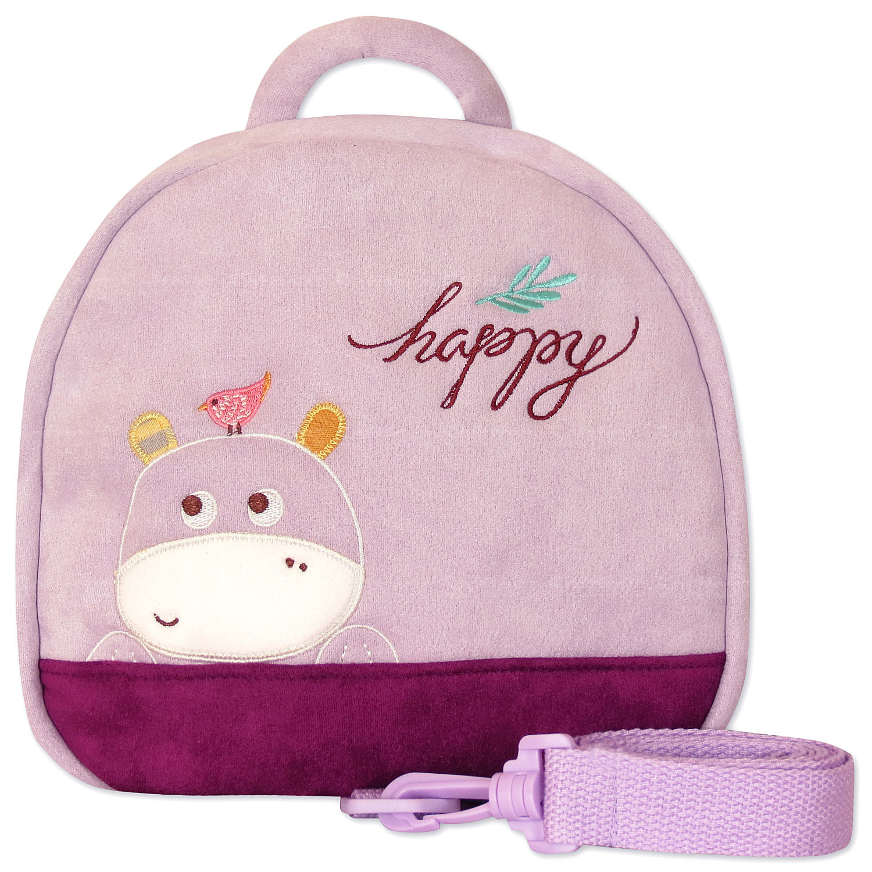 Мягкая игрушка-рюкзак Счастливый бегемотик