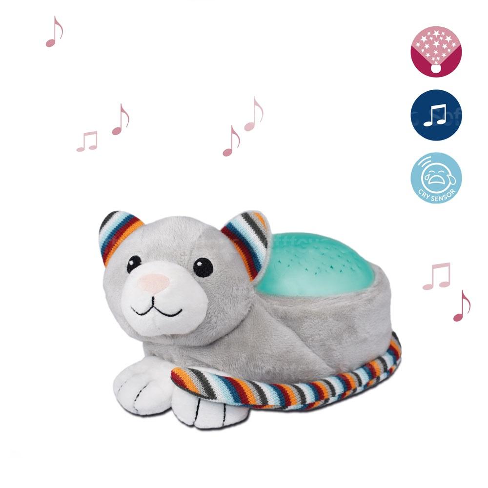 Мягкая музыкальная-игрушка ZAZU ночник-проектор Котик Кики