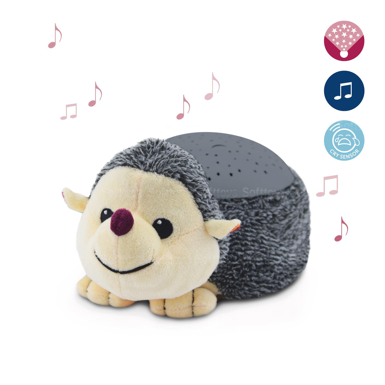 Мягкая музыкальная-игрушка ZAZU ночник-проектор Ёжик Гари