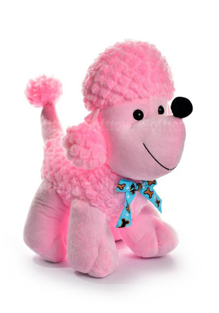Пудель розовый 40 см