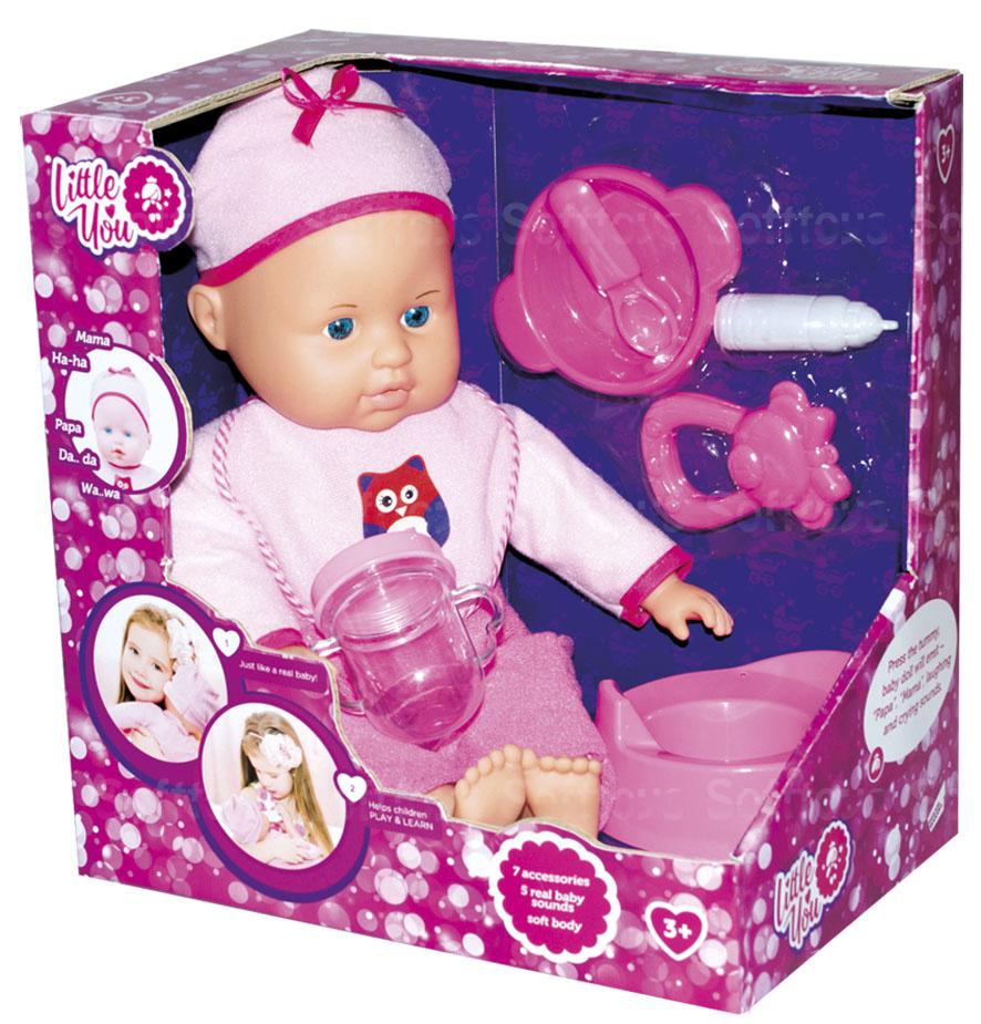 Пупс Little you с аксессуарами pink