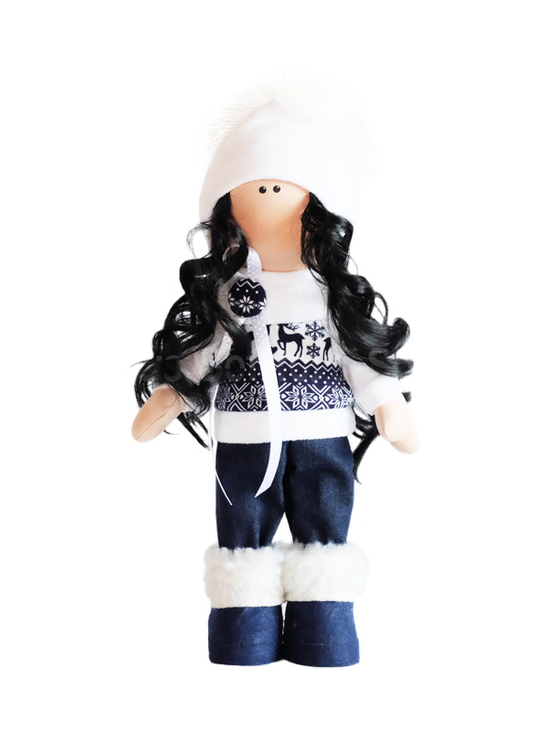 Текстильная Кукла ручной работы Камила