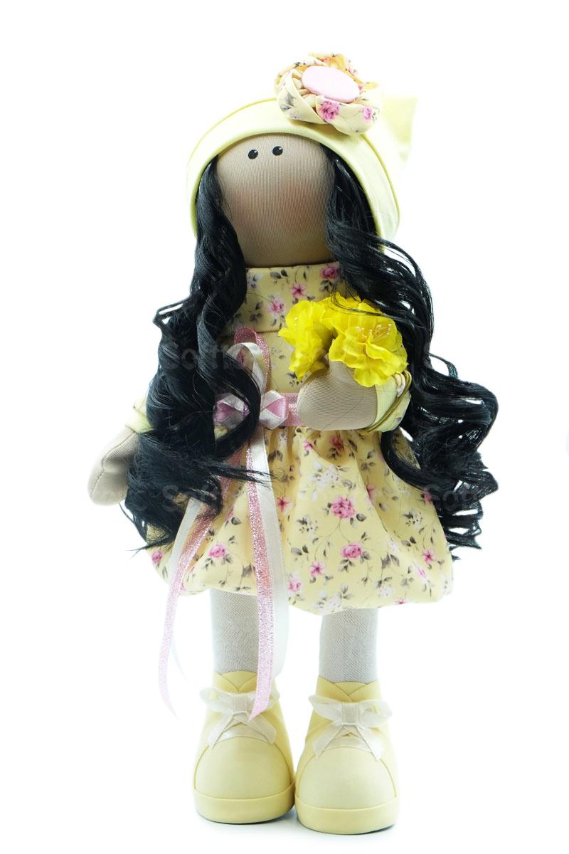 Текстильная Кукла ручной работы Ксюша