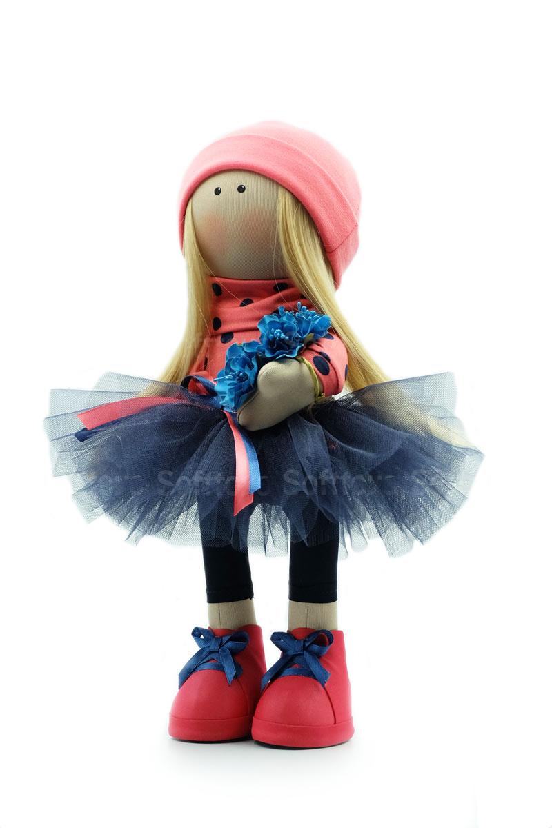 Текстильная Кукла ручной работы Лена