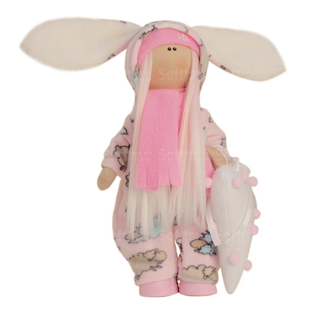 Текстильная Кукла ручной работы Пушок