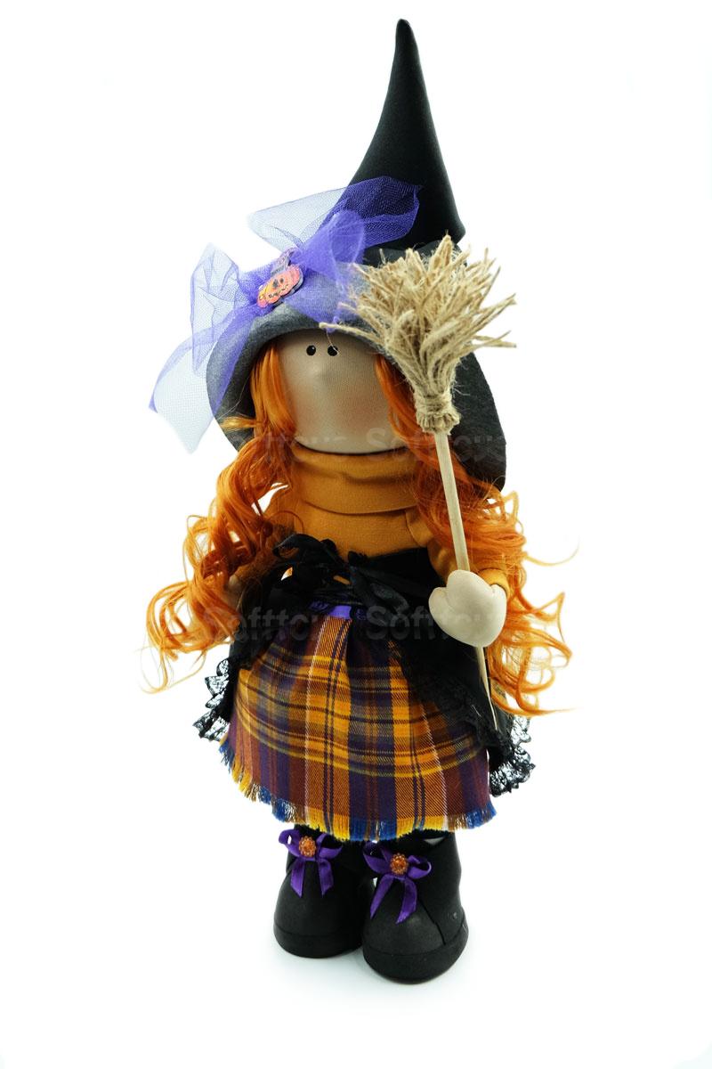 Текстильная Кукла ручной работы Ведьмочка Агнесса