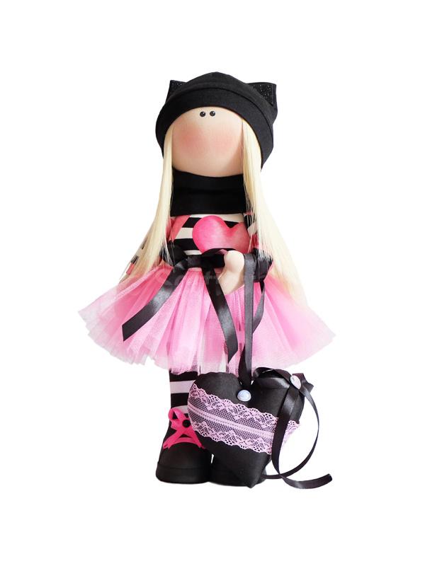 Текстильная Кукла ручной работы Вика
