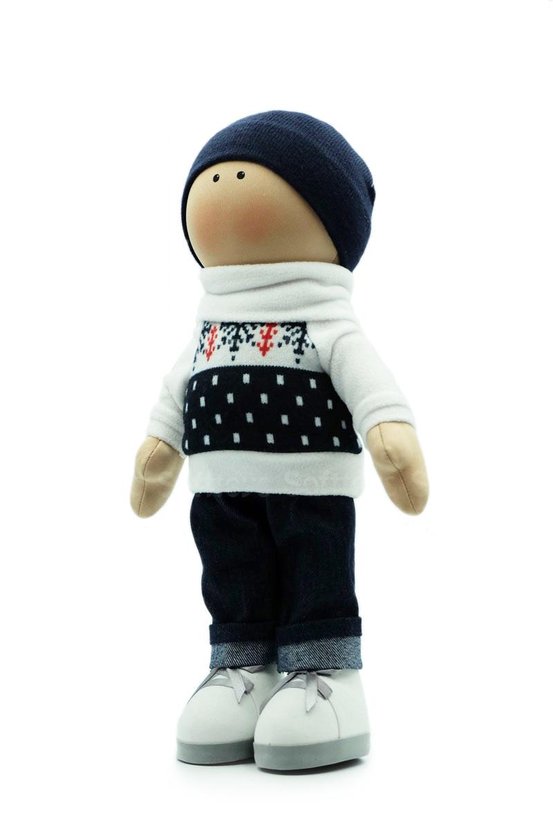 Текстильная Кукла ручной работы мальчик Коля
