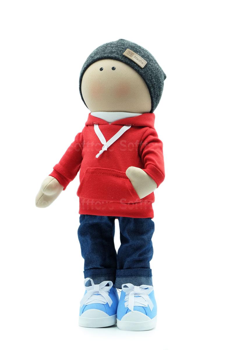 Текстильная Кукла ручной работы мальчик Макар