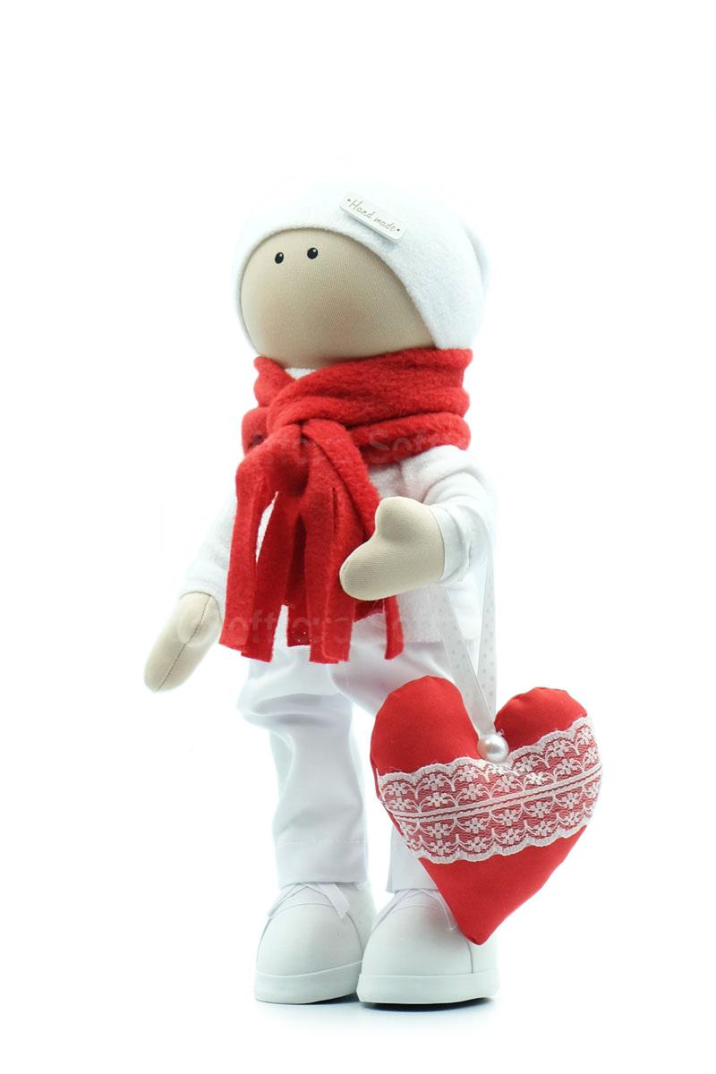 Текстильная Кукла ручной работы мальчик Валентин