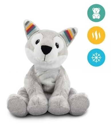Тёплая мягкая игрушка ZAZU Хаска HOWY с ароматом лаванды