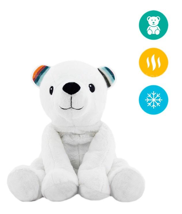 Тёплая мягкая игрушка ZAZU Медведь PAUL с ароматом лаванды