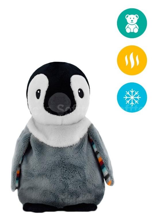 Тёплая мягкая игрушка ZAZU Пингвин PIP с ароматом лаванды
