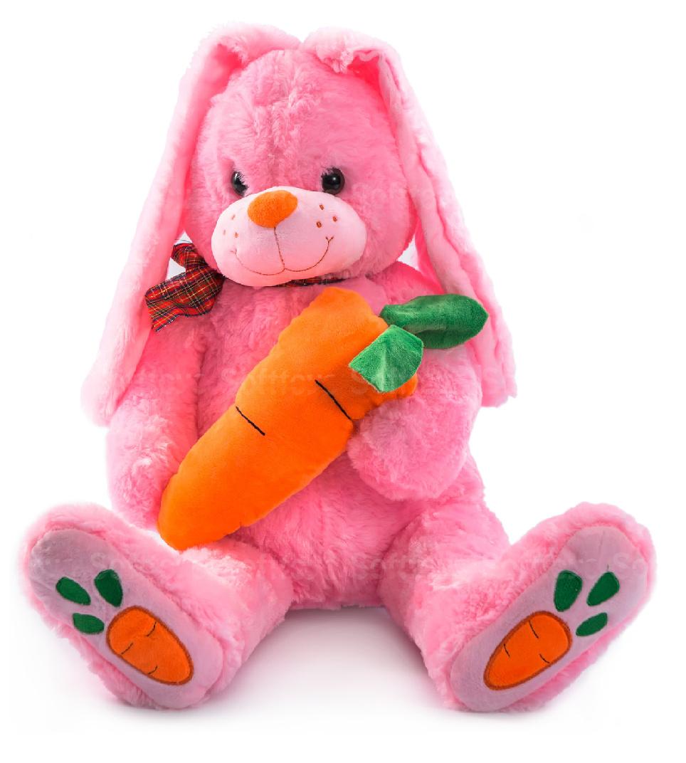 Зайка с морковкой 110 см