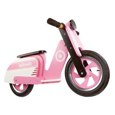 "Беговел деревянный 12"" Kiddi Moto Scooter розово-белый"