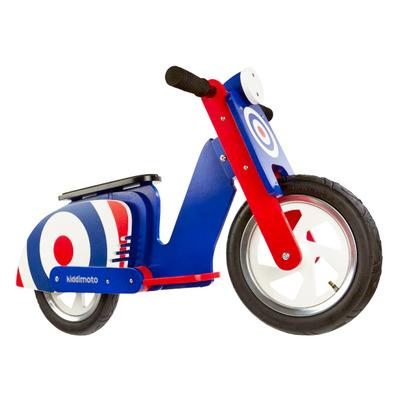 """Беговел деревянный 12"""" Kiddi Moto Scooter синяя мишень"""
