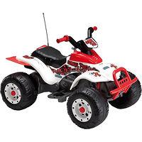Детский электромобиль Peg Perego T-Rex 2012 бело-серый