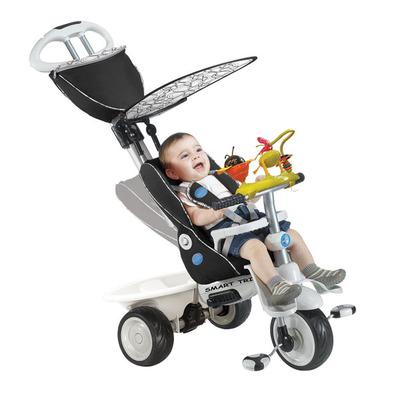 Детский велосипед Smart Trike Recliner Stroller 4 в 1 с игровой панелью черный